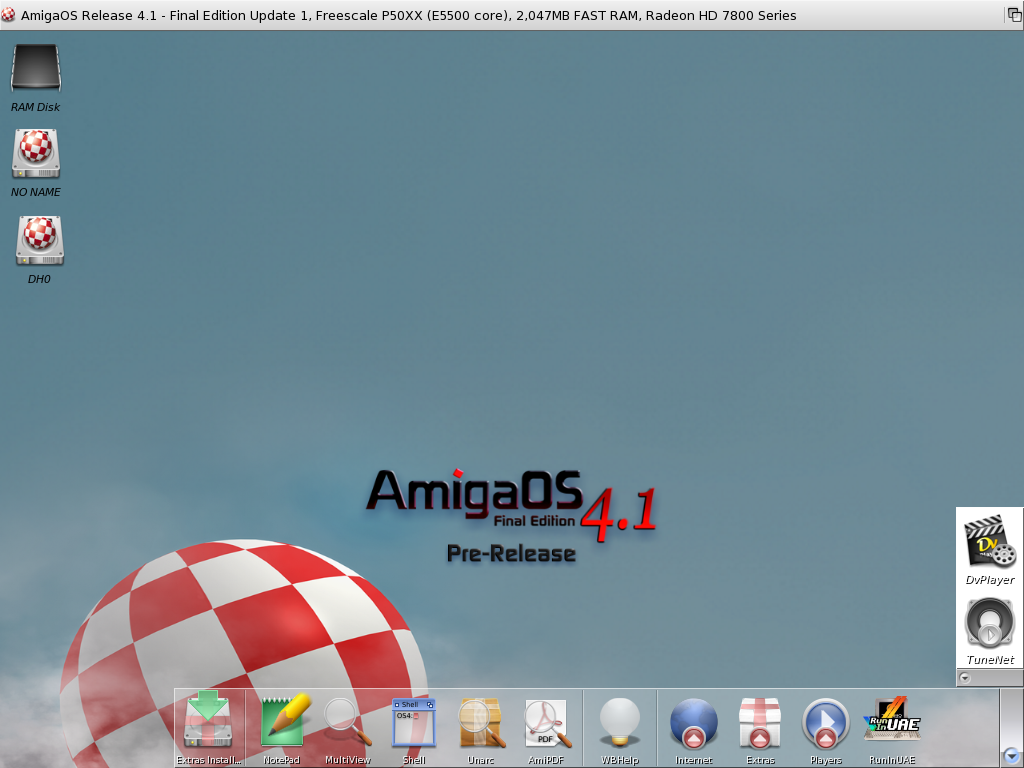 Amiga 4.1 screenshot