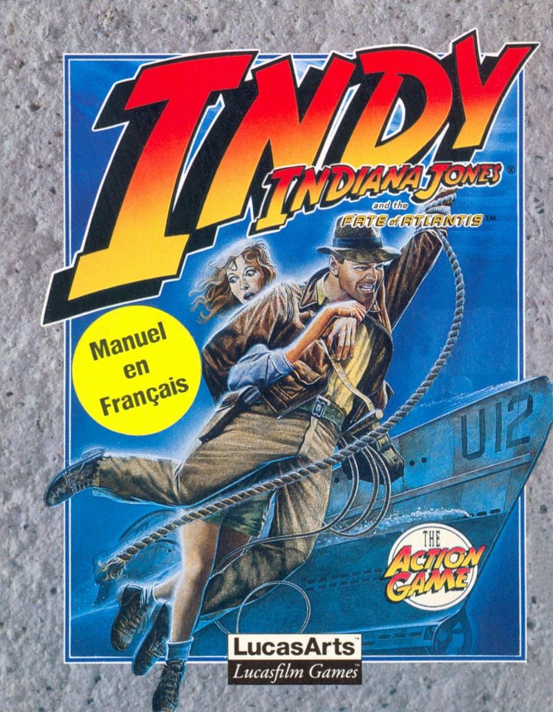 indiana jones and the fate of atlantis: the action game – MS DOS